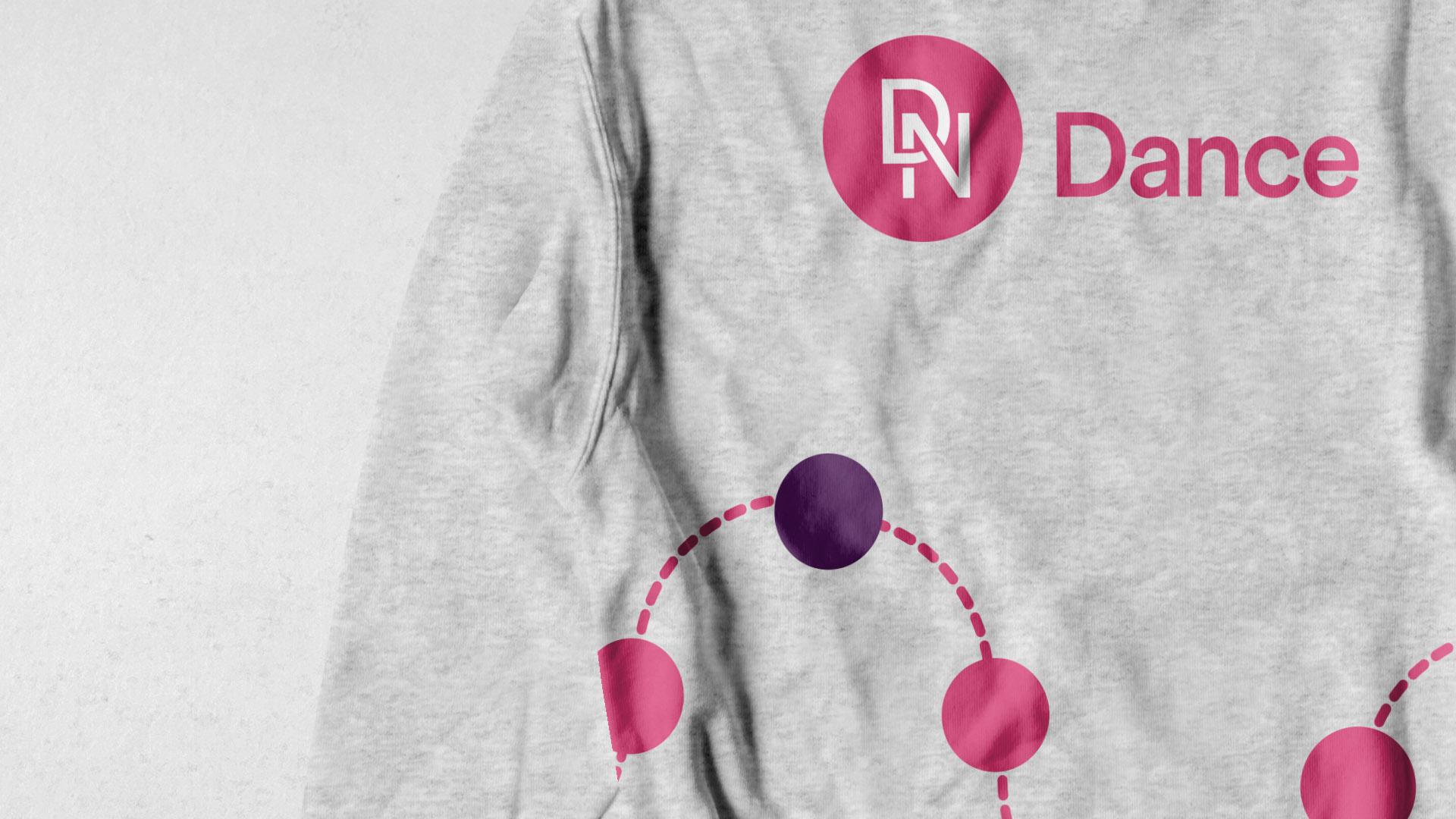 DN Dance tshirt branding