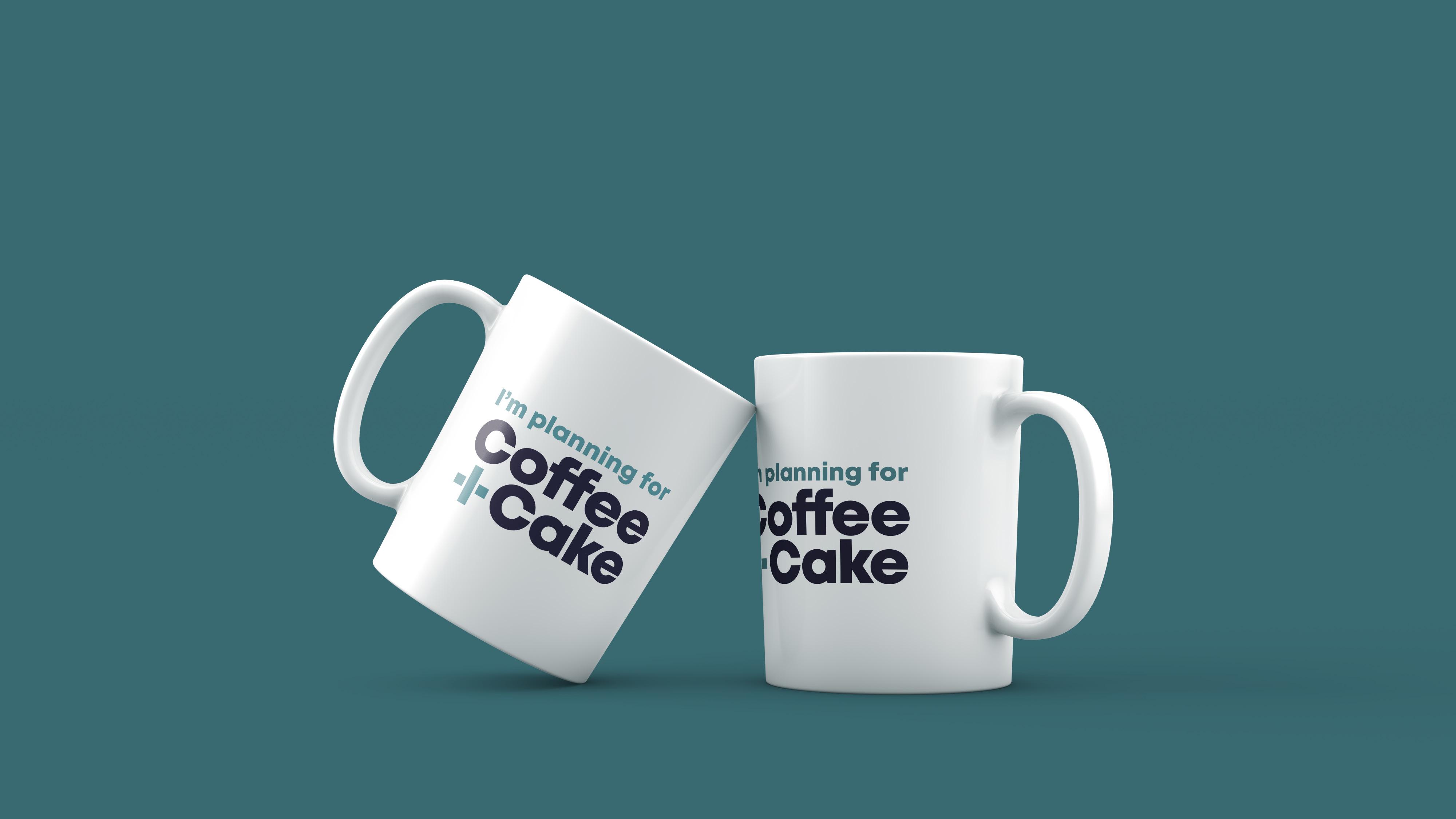 Peacock + Smith branding on coffee mugs