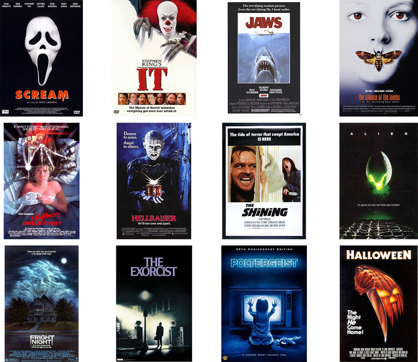 Horror Movie Covers